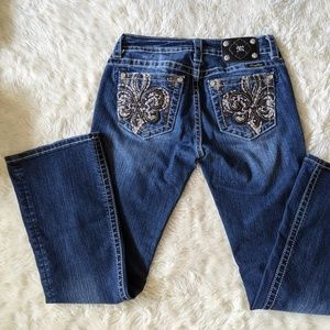 Miss Me  boot cut Jeans 29 with bling pockets
